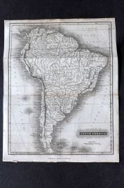 Arrowsmith 1824 Antique Map. South America